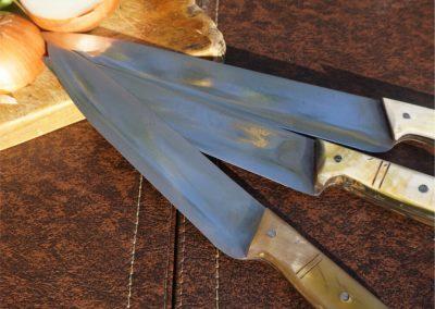 Cuchillo cocinero en cacho de vacuno de 32 cm. Cuchillos Parroninos