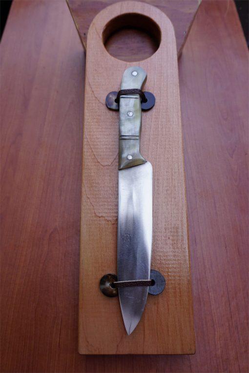 Cuchillo cocinero en cacho de vacuno de 28 cm. Cuchillos Parroninos